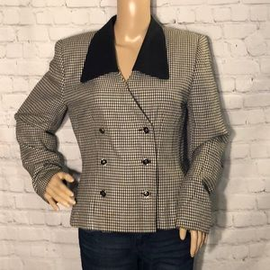 Vintage Atrium Collection Houndstooth Blazer 6